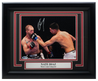Nate Diaz Signed UFC 11x14 Custom Framed Photo Display (Beckett COA) at PristineAuction.com