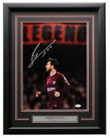 "Lionel Messi Signed FC Barcelona 17x21 Custom Framed Photo Display Inscribed ""Leo"" (JSA COA) at PristineAuction.com"