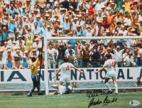 "Gordon Banks Signed England 1970 FIFA World Cup 11x14 Photo Inscribed ""Pele Save"" (Beckett COA) at PristineAuction.com"