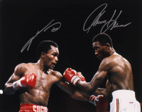 "Thomas ""Hitman"" Hearns & Sugar Ray Leonard Signed 16x20 Photo (PSA Hologram) at PristineAuction.com"