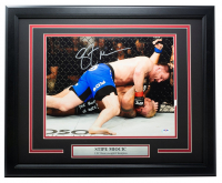 "Stipe Miocic Signed UFC 16x20 Custom Framed Photo Display Inscribed ""Lights Out!"" (PSA COA) at PristineAuction.com"