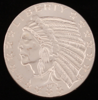 2 Troy Oz Incuse Indian .999 Fine Silver Bullion Round at PristineAuction.com