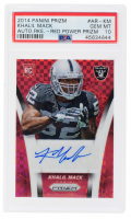Khalil Mack 2014 Panini Prizm Rookie Autographs Prizms Red Power #ARKM (PSA 10) at PristineAuction.com
