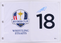 Tommy Fleetwood Signed 2020 Ryder Cup Golf Pin Flag (Beckett COA) at PristineAuction.com