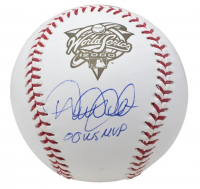 "Derek Jeter Signed 2000 World Series Logo Baseball Inscribed ""00 WS MVP"" (Steiner COA & MLB Authentication Hologram) at PristineAuction.com"