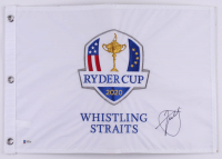 Xander Schauffele Signed 2020 Ryder Cup Golf Pin Flag (Beckett COA) at PristineAuction.com