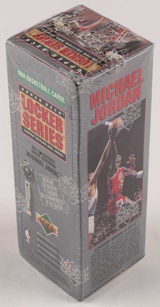 1991-92 Upper Deck NBA Michael Jordan Locker Series 4 Box with (7) Packs at PristineAuction.com