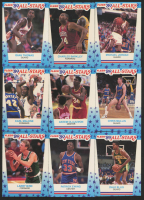 1989-90 Fleer Stickers Near Complete Set of (9/11) Cards with #3 Michael Jordan, #10 Larry Bird, #4 Charles Barkley, #7 Patrick Ewing at PristineAuction.com