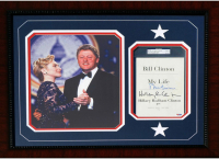 Hillary & Bill Clinton Signed 21x25 Custom Framed Book Page Display (PSA LOA) at PristineAuction.com