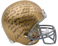 Rudy Ruettiger Signed Notre Dame Fighting Irish Full-Size Helmet With Extensive Inscription (JSA COA) at PristineAuction.com