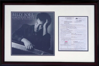 Billy Joel Signed 19x29 Custom Framed 2001 Contract Display (PSA COA) at PristineAuction.com