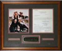 """Bonanza"" 20x24 Custom Framed Contract Display Signed by (4) with Lorne Greene, Pernell Roberts, Dan Blocker & Michael Landon (PSA LOA) at PristineAuction.com"