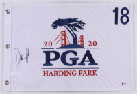 Dustin Johnson Signed 2020 PGA Championship Golf Pin Flag (Beckett COA) at PristineAuction.com