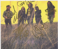 Pearl Jam 8x10 Print Signed by (5) With Eddie Vedder, Stone Gossard, Jeff Ament, Mike McCready (PSA LOA) at PristineAuction.com