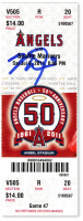 Mike Trout Signed Angels First MLB Hit Game Ticket (MLB Hologram) at PristineAuction.com