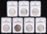 Lot of (7) Morgan Silver Dollars (NGC MS63) at PristineAuction.com