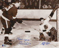 "Glenn Hall & Gordie Howe Signed 8x10 Photo Inscribed ""Kindest Regards"" (Beckett COA) at PristineAuction.com"
