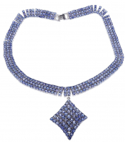 70ct Natural Tanzanite Necklace (GAL Appraisal) at PristineAuction.com