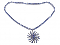 37ct Natural Tanzanite Necklace (GAL Appraisal) at PristineAuction.com