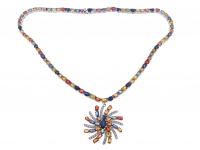 40ct Natural Multi-Colored Sapphire Necklace (GAL Appraisal) at PristineAuction.com