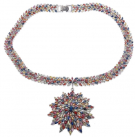 45.14ct Natural Multi-Colored Sapphire Necklace (GAL Appraisal) at PristineAuction.com