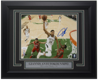 Giannis Antetokounmpo Signed Bucks 11x14 Custom Framed Photo Display (JSA COA) at PristineAuction.com