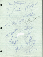 1989-90 Bulls 8x10.5 Cut Team-Signed by (12) with Michael Jordan, Scottie Pippen, Phil Jackson (PSA LOA) at PristineAuction.com