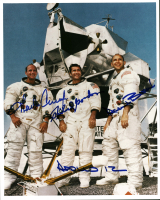 "Charles Conrad, Alan Bean, & Richard Gordon Signed Apollo 12 8x10 Photo Inscribed ""Apollo 12"" (Beckett LOA) at PristineAuction.com"