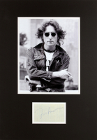 John Lennon Signed Beatles 13x19 Custom Matted Cut Display (JSA LOA) at PristineAuction.com