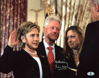 "Bill Clinton Signed 11x14 Photo Inscribed ""Go Hillary"" (Beckett LOA) at PristineAuction.com"