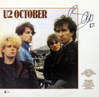 "Bono Signed U2 ""October"" Vinyl Record Album Cover (Beckett LOA) at PristineAuction.com"
