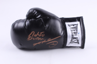 Roberto Duran & Sugar Ray Leonard Signed Everlast Boxing Glove (Beckett COA) at PristineAuction.com