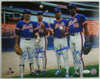 "1986 Mets 11x14 Photo Signed By (4) With Ron Darling, Bob Ojeda, Sid Fernandez & Dwight ""Doc"" Gooden (JSA Hologram) at PristineAuction.com"