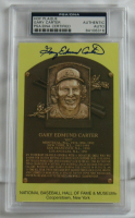 Gary Carter Signed Hall of Fame Plaque Postcard (PSA Authentic) at PristineAuction.com