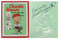 "Charles Schulz Signed ""Charlie Brown: This Is Your Life"" Hardback Book (JSA LOA) at PristineAuction.com"