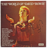 "David Bowie Signed ""The World of David Bowie"" Record Album Cover Inscribed ""'93"" (PSA LOA) at PristineAuction.com"