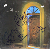 """Deep Purple """"The House of Blue Light"""" Vinyl Album Cover Band-Signed by (5) with Roger Glover, Ian Gillan, John Lord, Ritchie Blackmore & Ian Paice (Beckett LOA) at PristineAuction.com"""