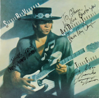 "Stevie Ray Vaughn, Tommy Shannon, & Chris Layton Signed Double Trouble ""Texas Flood"" Vinyl Record Album with (3) Inscriptions (JSA LOA) at PristineAuction.com"