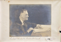 Franklin D. Roosevelt Signed 9.25x13.5 Photo with Inscription (Beckett LOA) at PristineAuction.com