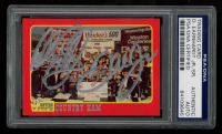 Dale Earnhardt Jr. & Dale Earnhardt Sr. Signed 1992 Traks Mom-n-Pop's Ham #1 (PSA Encapsulated) at PristineAuction.com