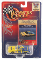 Dale Earnhardt Sr. Signed Winner's Circle 1985 Wrangler Chevrolet Monte Carlo 1:64 Scale Mini Die Cast Car (PSA LOA) at PristineAuction.com