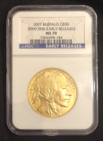 2007 $50 Buffalo Gold Coin - Early Releases (NGC MS 70) at PristineAuction.com