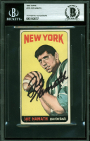 Joe Namath Signed 1965 Topps #122 RC (BAS Encapsulated) at PristineAuction.com