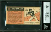Joe Namath Signed 1965 Topps #122 RC (BAS Encapsulated) at PristineAuction.com