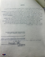 Joe Louis Signed 1977 Contract Document (PSA LOA) at PristineAuction.com