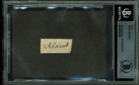 John Adams Signed .5x1.15 Cut (BAS Encapsulated) at PristineAuction.com