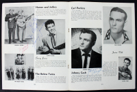 Johnny Cash, Sonny James, & Harland Powell Signed 1956 Tour Program (Beckett LOA) at PristineAuction.com