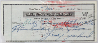 Judy Garland Signed 1951 Personal Bank Check (BAS Encapsulated) at PristineAuction.com