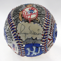 Mickey Mantle & Roger Maris Signed Yankees Hand-Painted Charles Fazzino Baseball (PSA LOA & JSA LOA) at PristineAuction.com