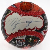 Michael Jordan Signed Bulls Baseball Hand-Painted Charles Fazzino (UDA Hologram) at PristineAuction.com